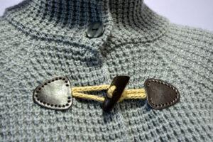 Dettaglio cappotto in Cashmere