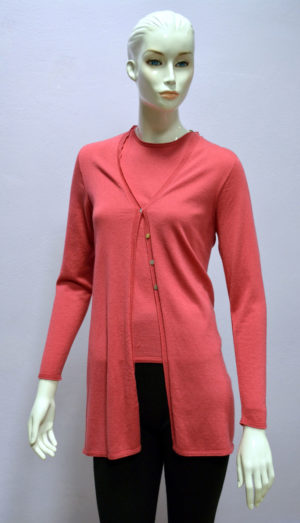 Twin set in Cashmere - rosa
